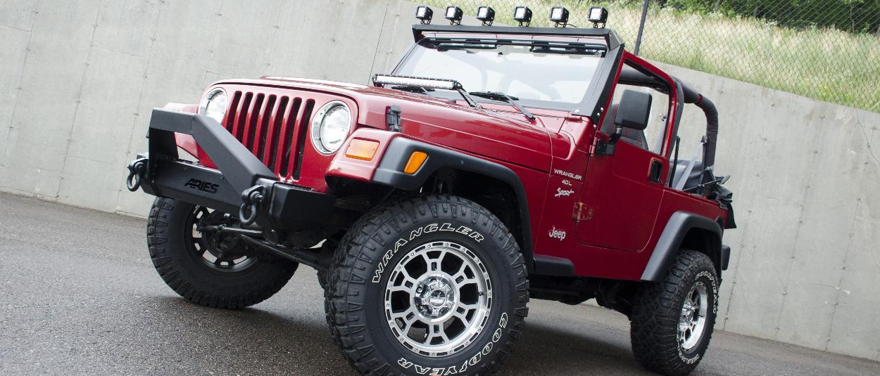 ARIES Jeep LED lights on 1999 Jeep Wrangler TJ