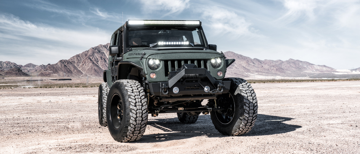 ARIES Jeep LED lights on 2016 Jeep Wrangler JK Unlimited - desert
