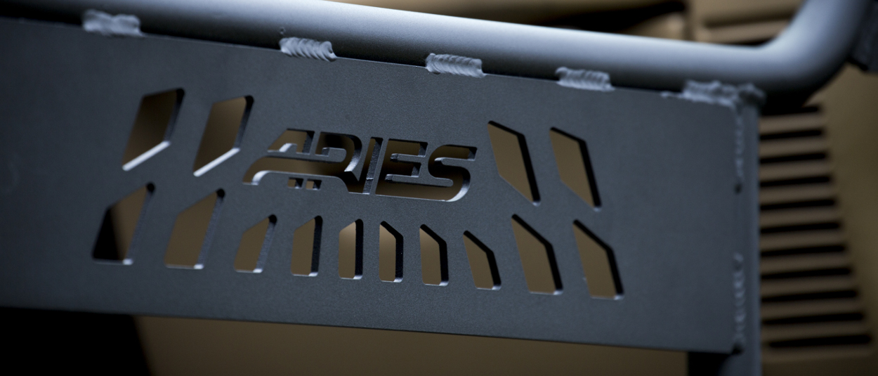 ARIES Jeep tube doors with cutout black aluminum construction