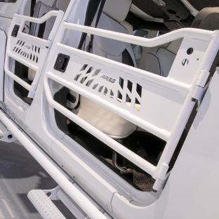 ARIES Jeep Wrangler JK doors with white custom finish