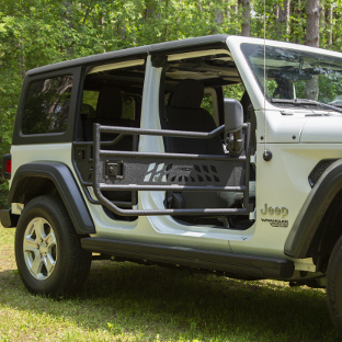 ARIES Jeep Wrangler JL doors on a white Jeep JL
