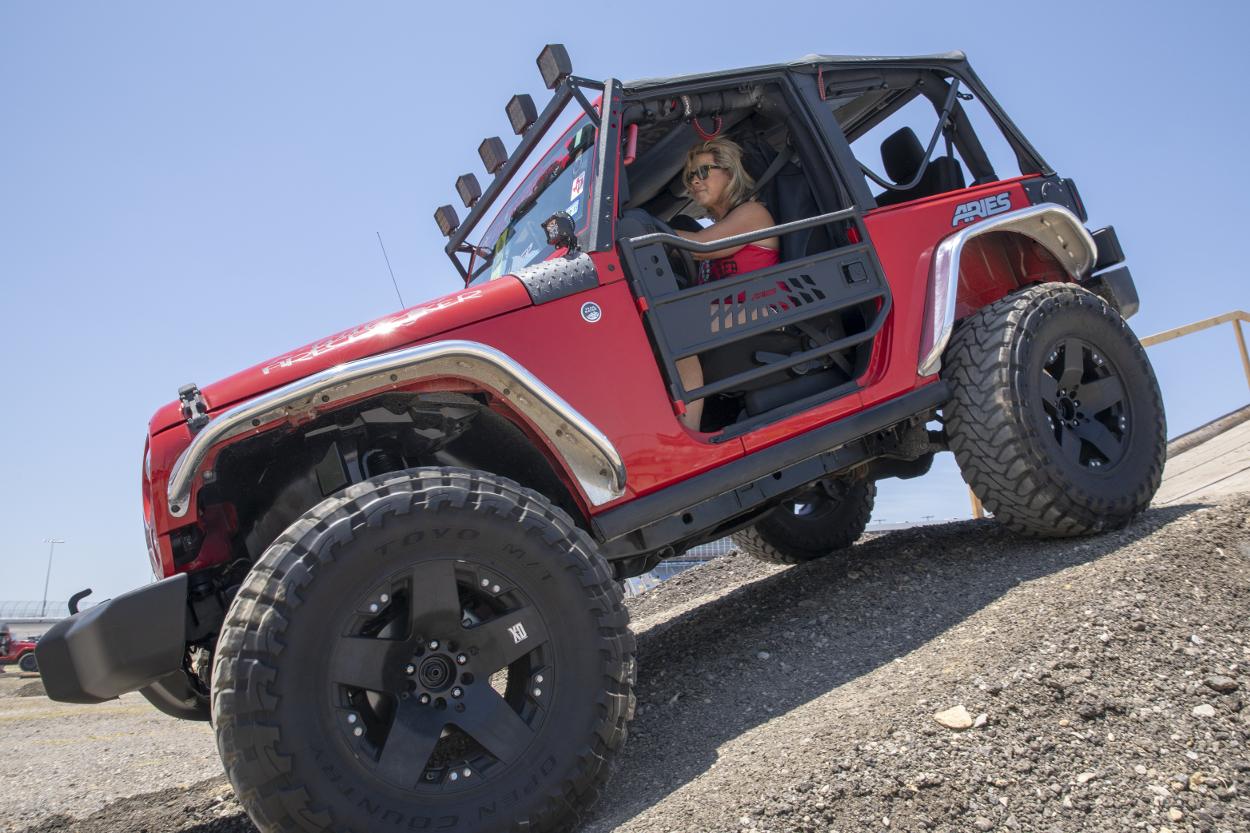 Red Offroad Jeep Wrangler JK Two Door With Aluminum Tube Doors ...