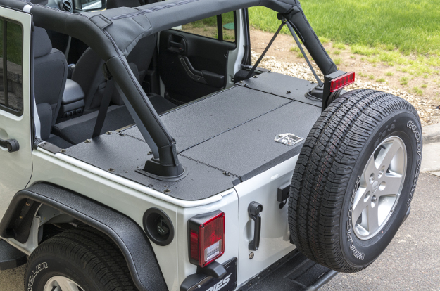 ARIES Jeep Wrangler cargo covers - security cargo lid