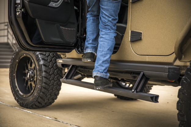 ARIES Jeep Wrangler side steps - ActionTrac™ powered running boards