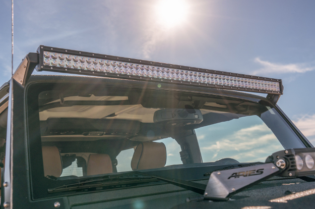ARIES LED light bars on Jeep Wrangler