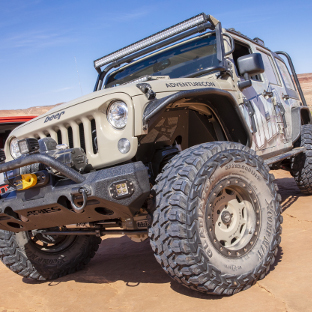 Desert Jeep Wrangler JK Unlimited with ARIES LED lights
