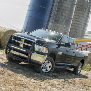 2015 Ram 3500 farm truck with ARIES RidgeStep running boards and truck accessories