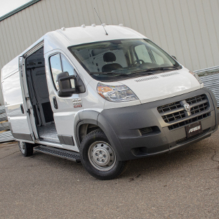 2017 Ram ProMaster 2500 cargo van with ARIES RidgeStep running boards