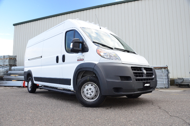 2017 Ram ProMaster 2500 work van with ARIES RidgeStep® running boards