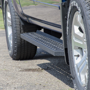 ARIES RidgeStep running boards on Chevrolet Silverado 1500
