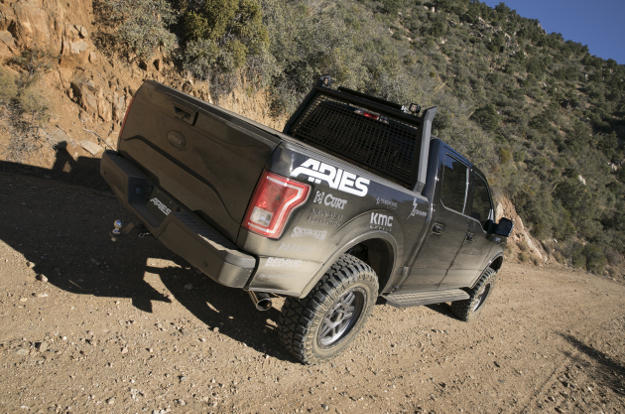 Custom 2016 Ford F150 with ARIES RidgeStep running boards offroad