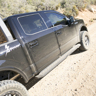 Offroad 2016 Ford F150 with ARIES RidgeStep running boards