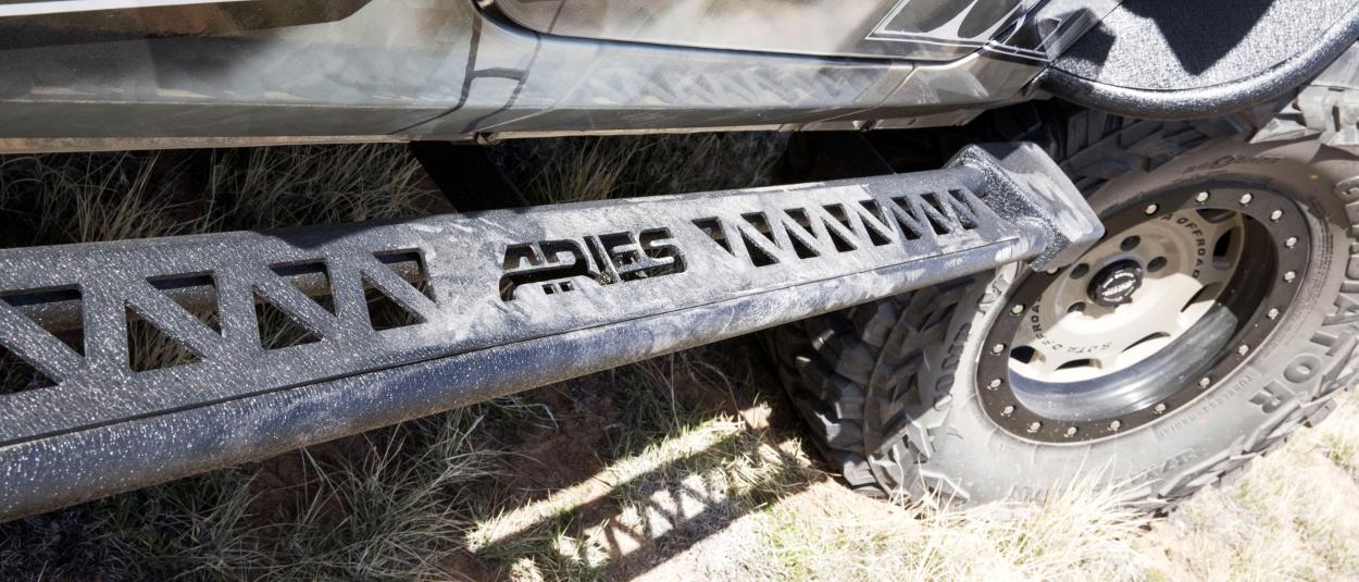 ARIES Rocker Step offroad side steps on Jeep Wrangler JK Unlimited