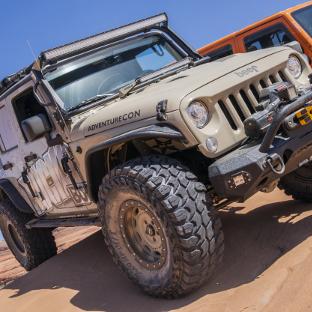 Bucks 4x4 Baja 2017 Jeep Wrangler JK Unlimited with ARIES Rocker Steps and Jeep accessories
