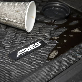 ARIES StyleGuard XD custom floor liners - spilled coffee