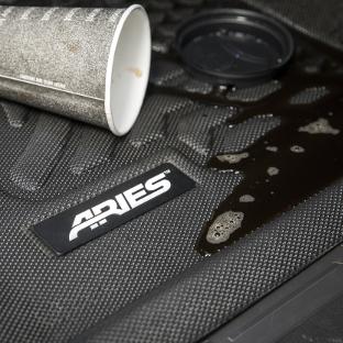 ARIES StyleGuard XD custom floor liners - spilled coffee