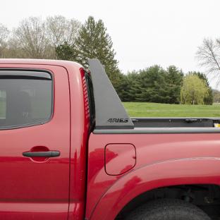 ARIES Switchback headache rack on red 2014 Toyota Tacoma