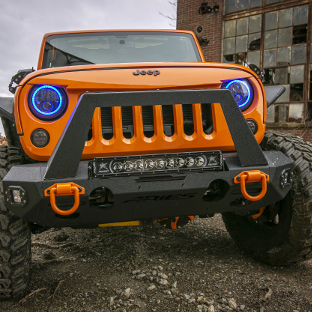 ARIES TrailChaser® Jeep Wrangler bumper on 2013 Jeep JK grille