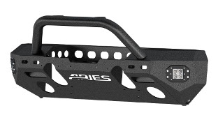 ARIES TrailChaser® Jeep Wrangler bumper with LED lights and brush guard - aluminum #2082058