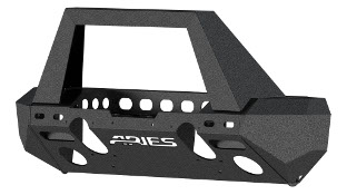 ARIES TrailChaser® Jeep Wrangler bumper with stinger - aluminum #2082055