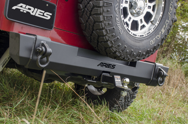 ARIES TrailCrusher® Jeep rear bumper on Jeep Wrangler TJ
