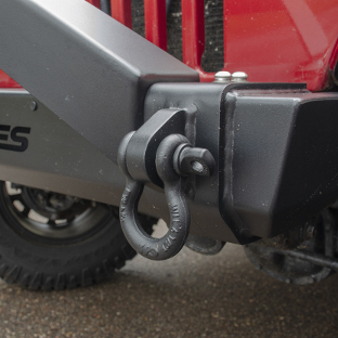 ARIES TrailCrusher® Jeep Wrangler bumper with shackle
