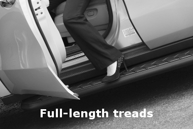 ARIES 2051006 AeroTread 67-Inch Polished Stainless Steel SUV Running Boards Select Honda Pilot