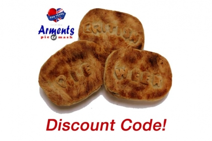 British Pie Week - Arments Pie & Mash - Online Order Discount Code!