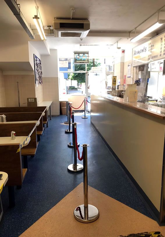 Queuing System Inside Arments Pie & Mash