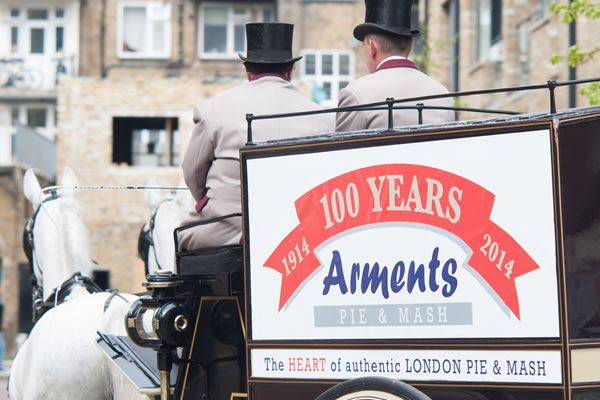 100 Years Of Arments Pie & Mash