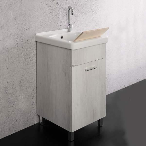 Lavatoio Unika 45x50 Con Vasca In Ceramica Ticino