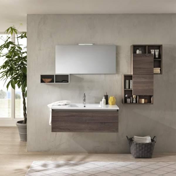 Mobile Bagno Moderno 180 Ibiza Tacacco Scuro Tft Home Forniture