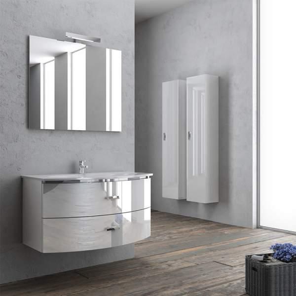 Mobile Bagno Sospeso Con Specchio 90 Ginevra