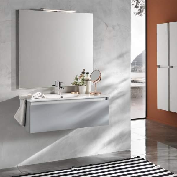 Mobile Bagno 100 Moderno Ibiza Grigio Opacoo Tft Home Forniture