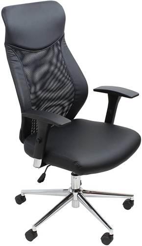 Sedia Ufficio Girevole Nera Con Braccioli Nera 1