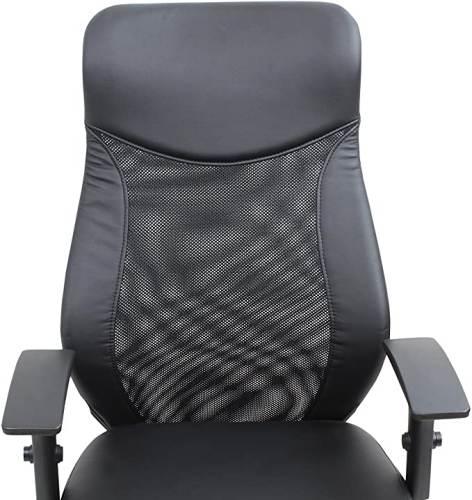 Sedia Ufficio Girevole Nera Con Braccioli Nera 3