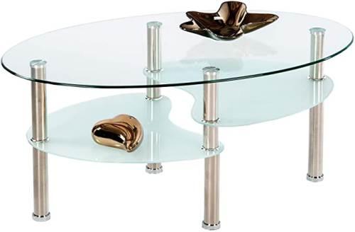 Tavolino Da Soggiorno Willi In Vetro 1
