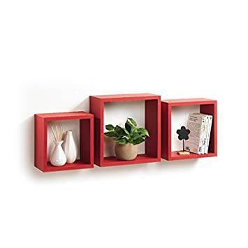 Cubi Da Parete Mobili Modul Home Rosso