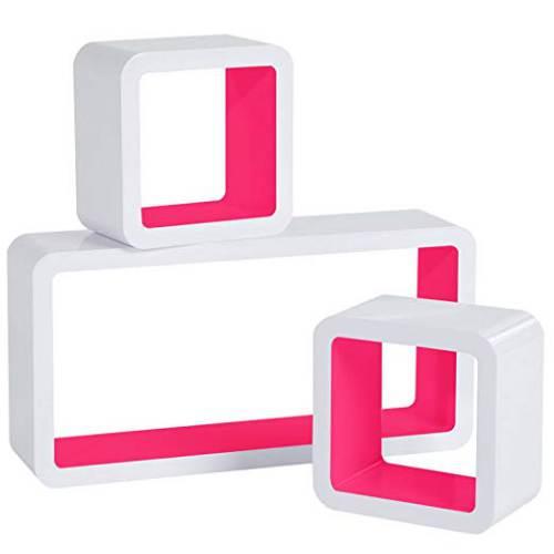 Cubi Da Parete Woltu Rg9229dbl Bianco E Rosa