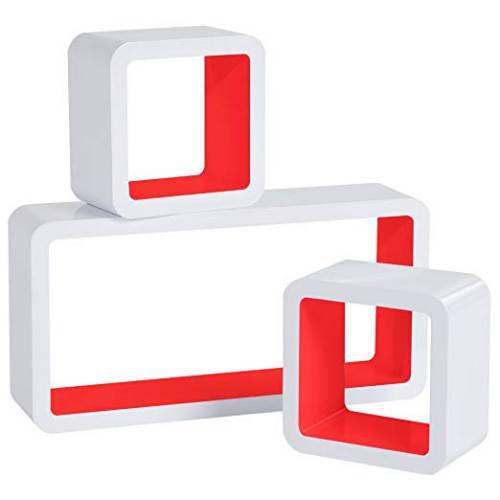 Cubi Da Parete Woltu Rg9229dbl Bianco E Rosso