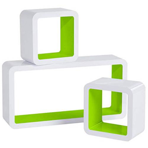 Cubi Da Parete Woltu Rg9229dbl Bianco E Verde