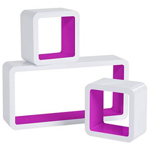 Cubi Da Parete Woltu Rg9229dbl Bianco E Viola
