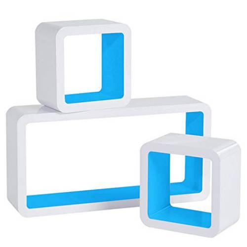 Cubi Da Parete Woltu Rg9229dbl1 Bianco E Azzurro
