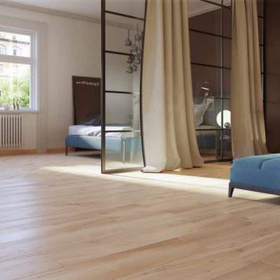 Gres Porcellanato Effetto Legno camera letto