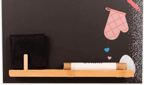 Lavagnetta per cucina Chalkboards UK con mensola porta gessetto e cancellino
