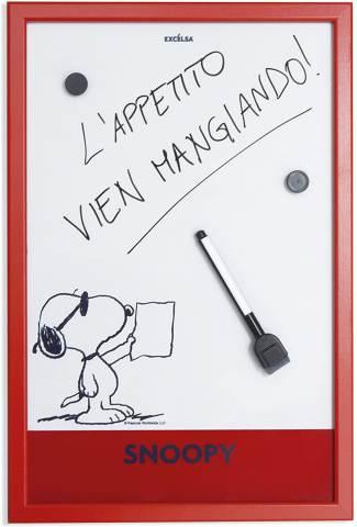 Lavagnetta Rossa Moderna Peanuts Snoopy