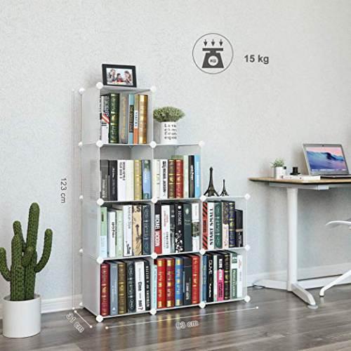 Libreria Bianca Componibile Songmics 4