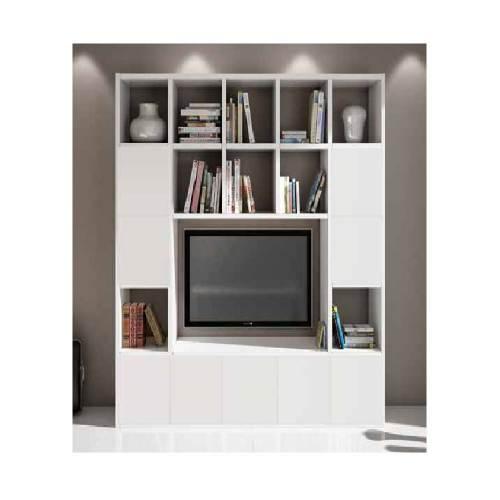 Libreria Bianca Porta Tv 2