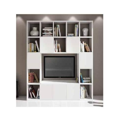 Libreria Bianca Porta Tv 3