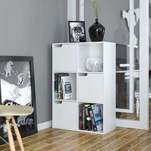Libreria A 6 Cubi Homfa 3 A Giorno 3 Ante 3